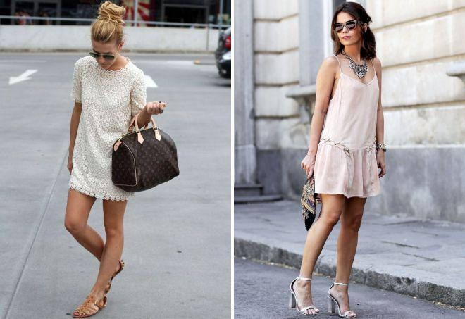 сандалии с летним платьем