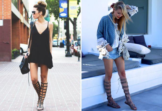 с чем носить римские сандалии