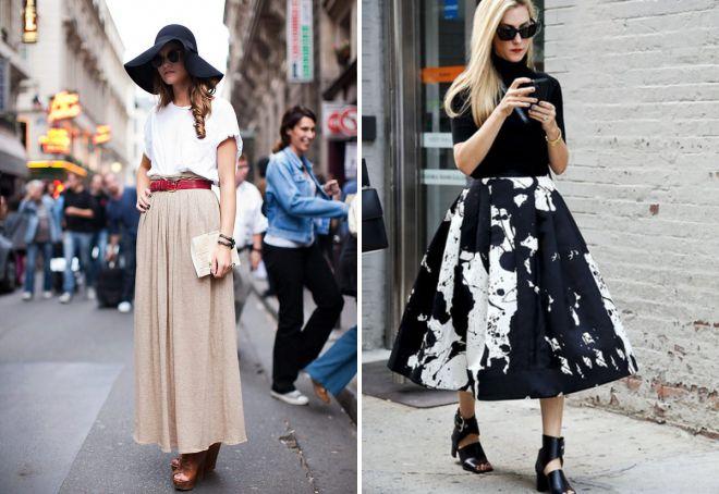 с чем носить широкую юбку