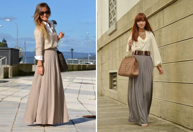 длинная широкая юбка с чем носить