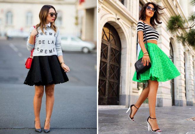 короткая широкая юбка