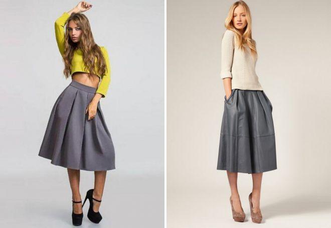 модные широкие юбки