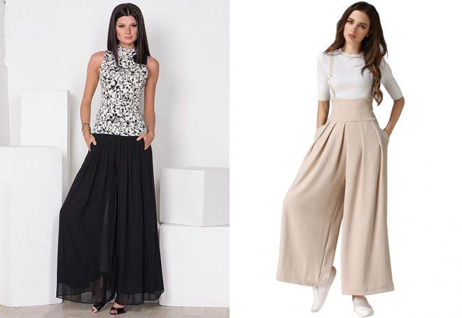 широкие брюки юбка