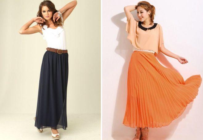 широкие шифоновые юбки