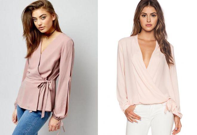 фасоны блузок с длинными рукавами