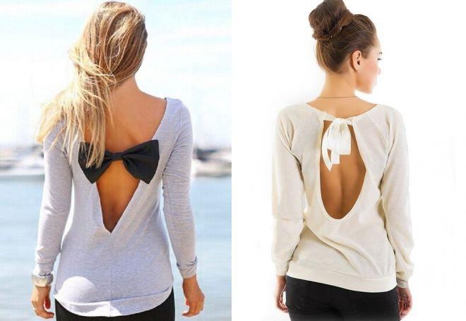 модные блузки с длинным рукавом
