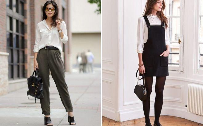 с чем носить блузку с длинным рукавом