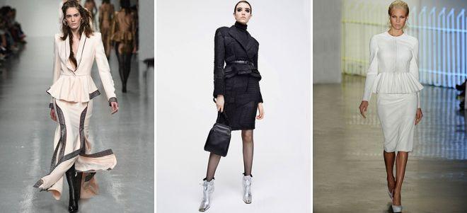 пиджак с баской и юбка карандаш