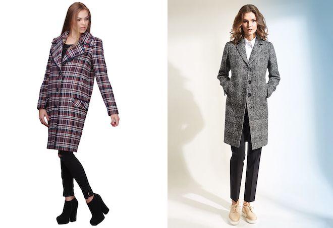 пальто пиджак в клетку