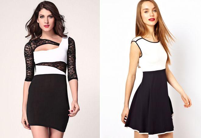 макияж под черно белое платье