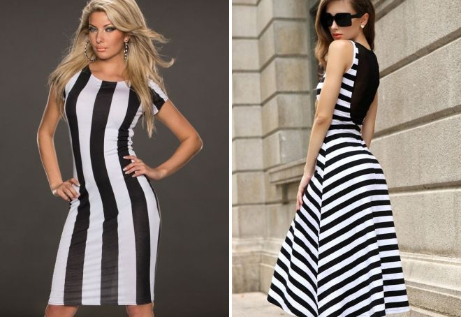 платья в черно белой гамме