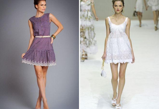 хлопковые короткие платья