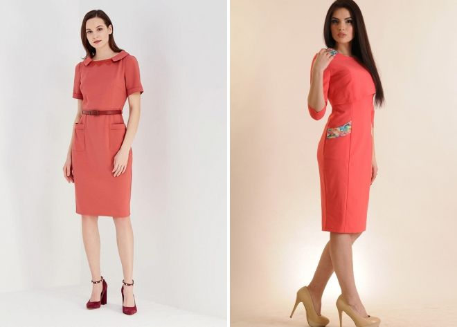02189abc0b0c Coral kjole - med hvad man skal kombinere og hvordan man vælger ...