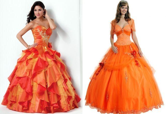 свадебные платья оранжевого цвета