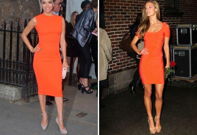 красивые оранжевые платья