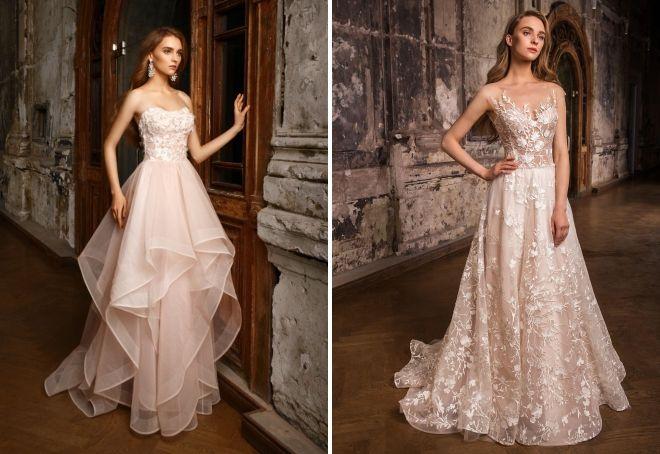 пудровое платье на свадьбу