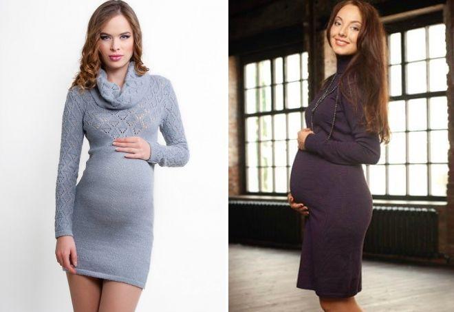 шерстяное платье для беременных