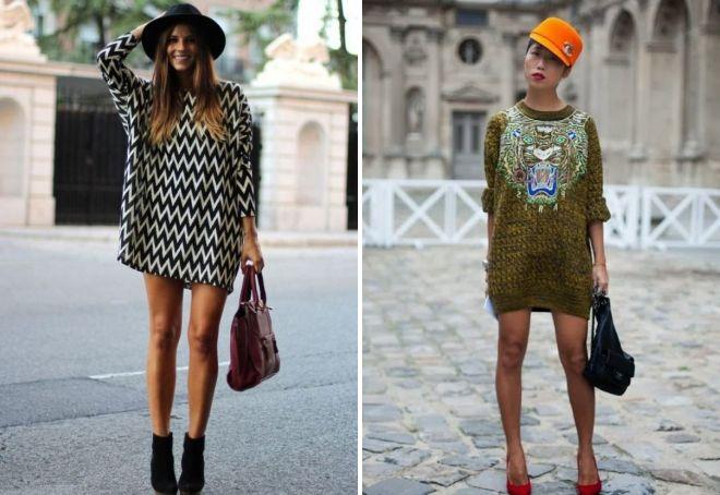 модные шерстяные платья