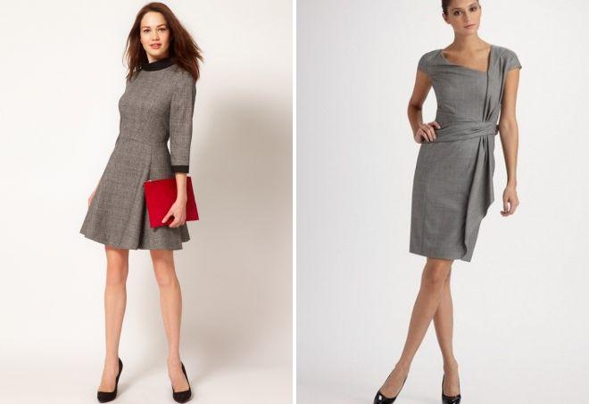 классические шерстяные платья