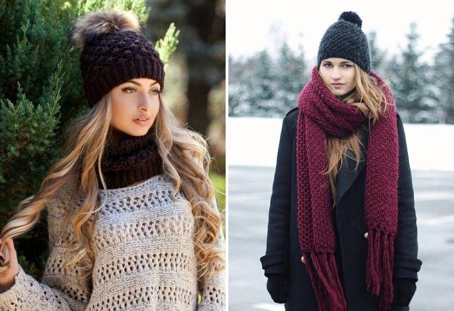 вязаные шапки 2019 модные тенденции и тренды