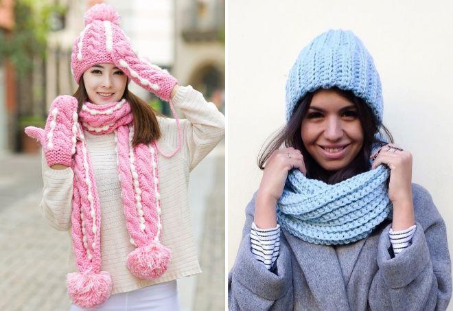 зимние вязаные шапки 2019
