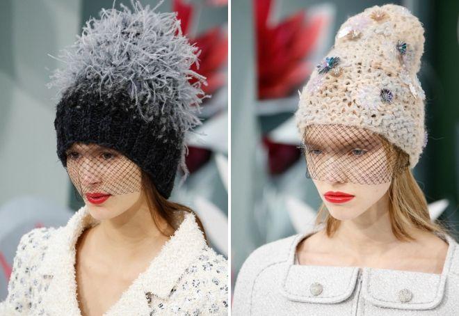 вязаные шапки 2018 2019 года