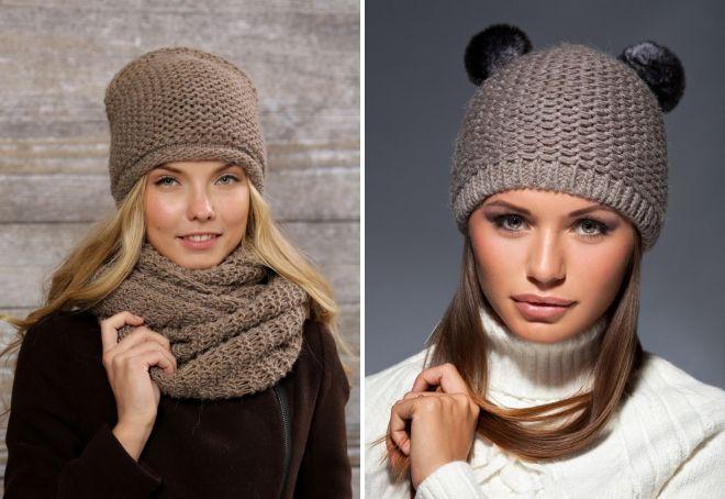 вязаные шапки для женщин 2019
