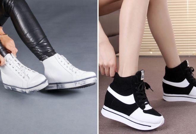 спортивные ботинки на толстой подошве