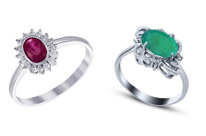 кольцо с агатом из серебра