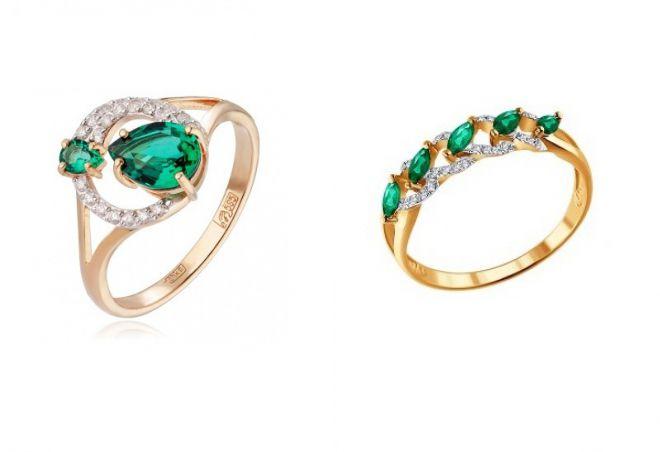 bague en or avec émeraude et diamants