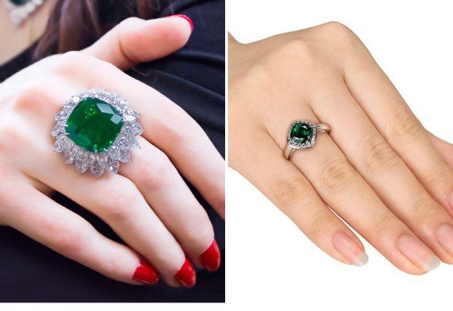 как выбрать кольцо с изумрудом