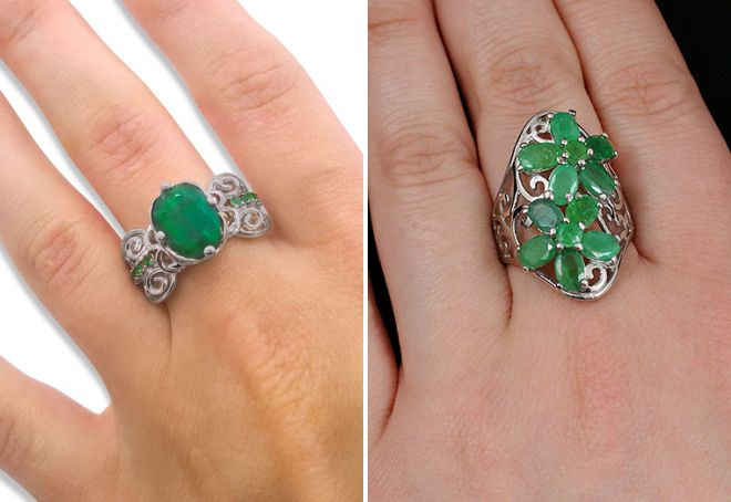 сколько стоит кольцо с изумрудом