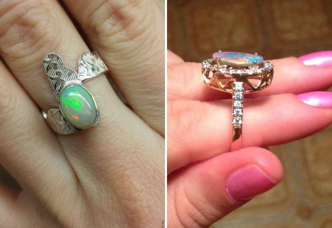 как выбрать кольцо с опалом