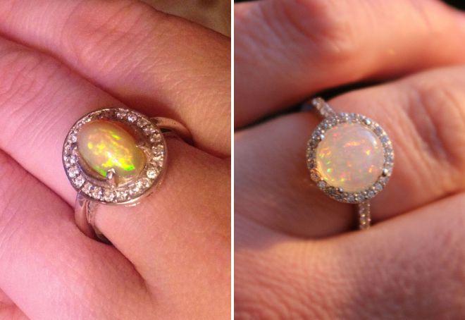модные кольца с опалом