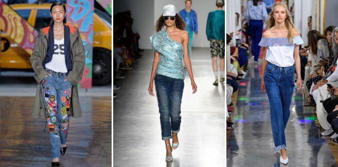 джинсы мода весна 2018