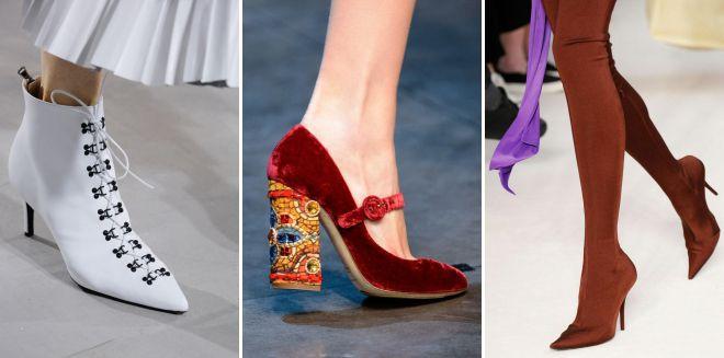мода весна 2018 основные тенденции в обуви