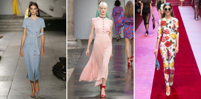 тенденции моды весна лето 2018