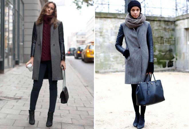 8be9fb7fa91 Модное женское серое пальто – длинное и короткое
