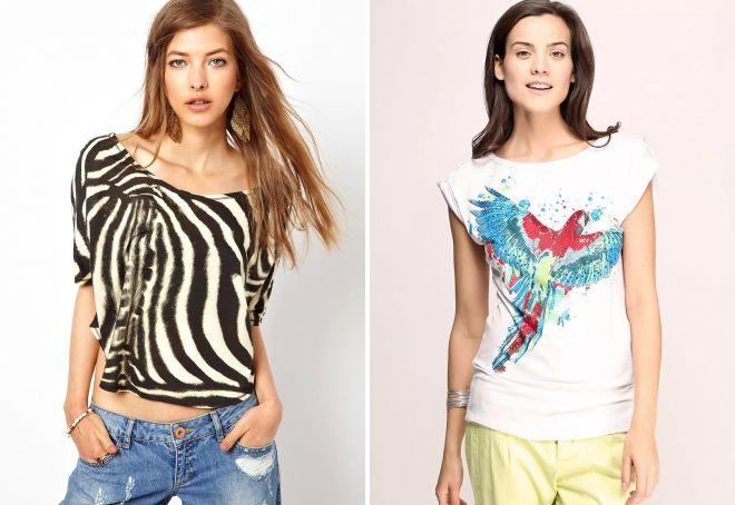 модные принты на футболках 2019
