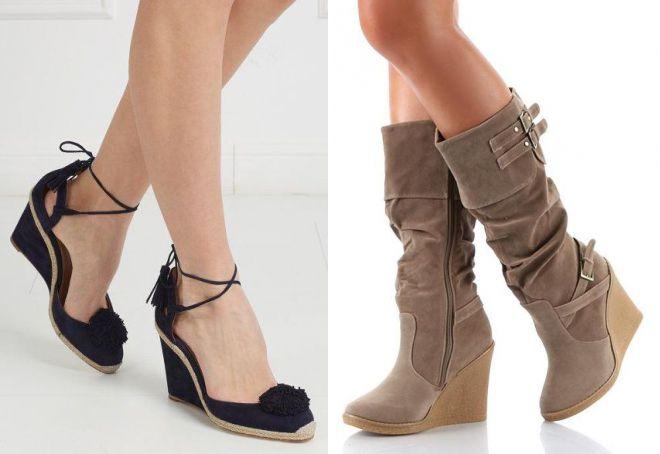 89cf61875 Модная женская обувь на танкетке – летняя, спортивная, свадебная ...