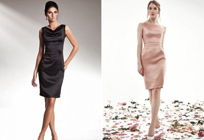 68cbbf78bb5 Красивое атласное платье – длинное в пол и короткое