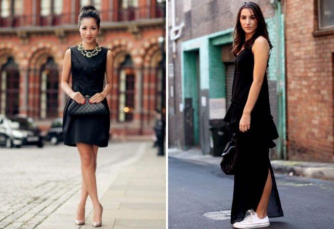 модные черные сарафаны