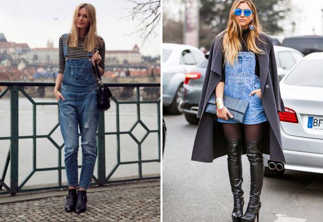 обувь к джинсовому комбинезону
