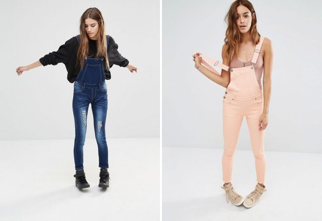 женские джинсовые комбинезоны 2017