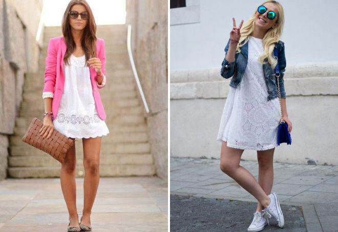 с чем носить белое летнее платье