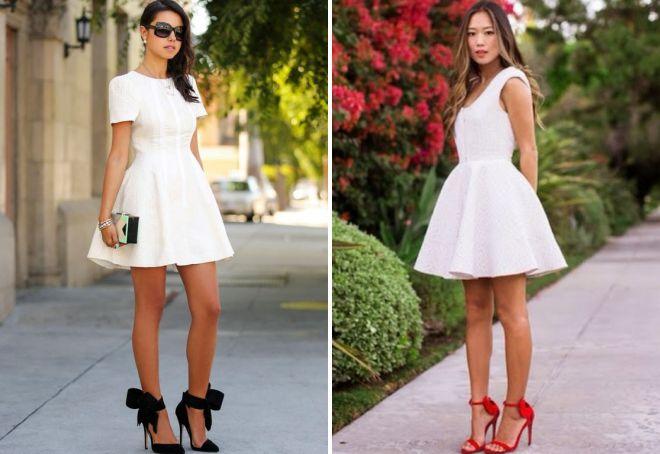 летняя обувь к белому платью