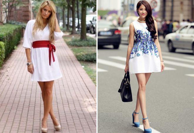 красивые летние белые платья