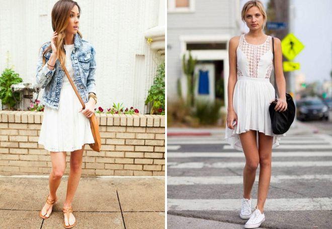 белое легкое летнее платье