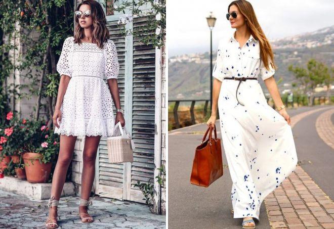 летние белые платья 2018