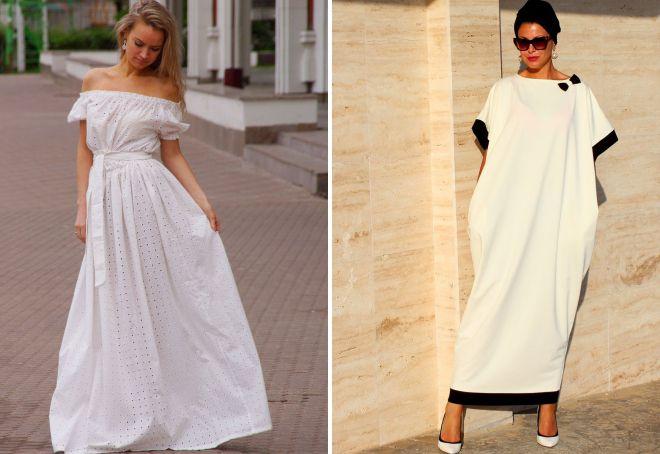 ленее белое платье в пол